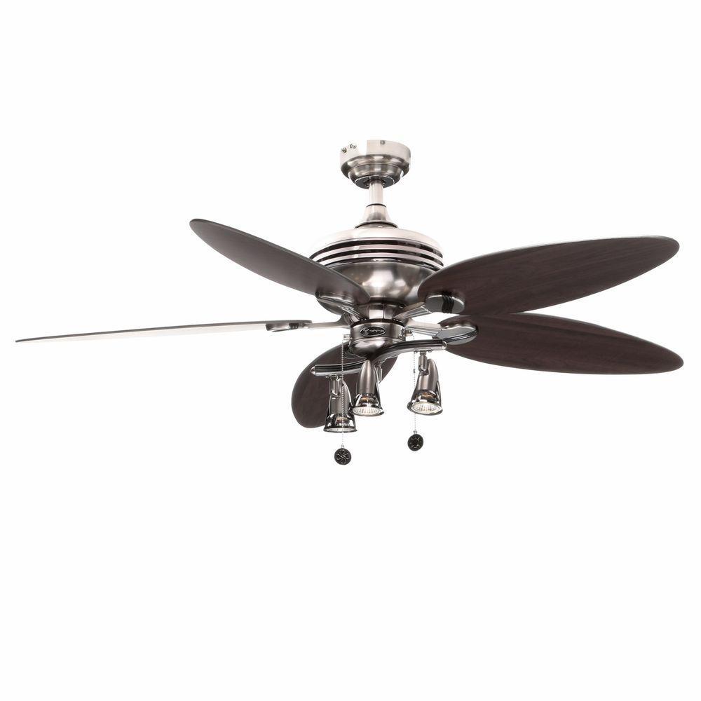 Xavier II 52 in. Indoor Brushed Nickel Ceiling Fan