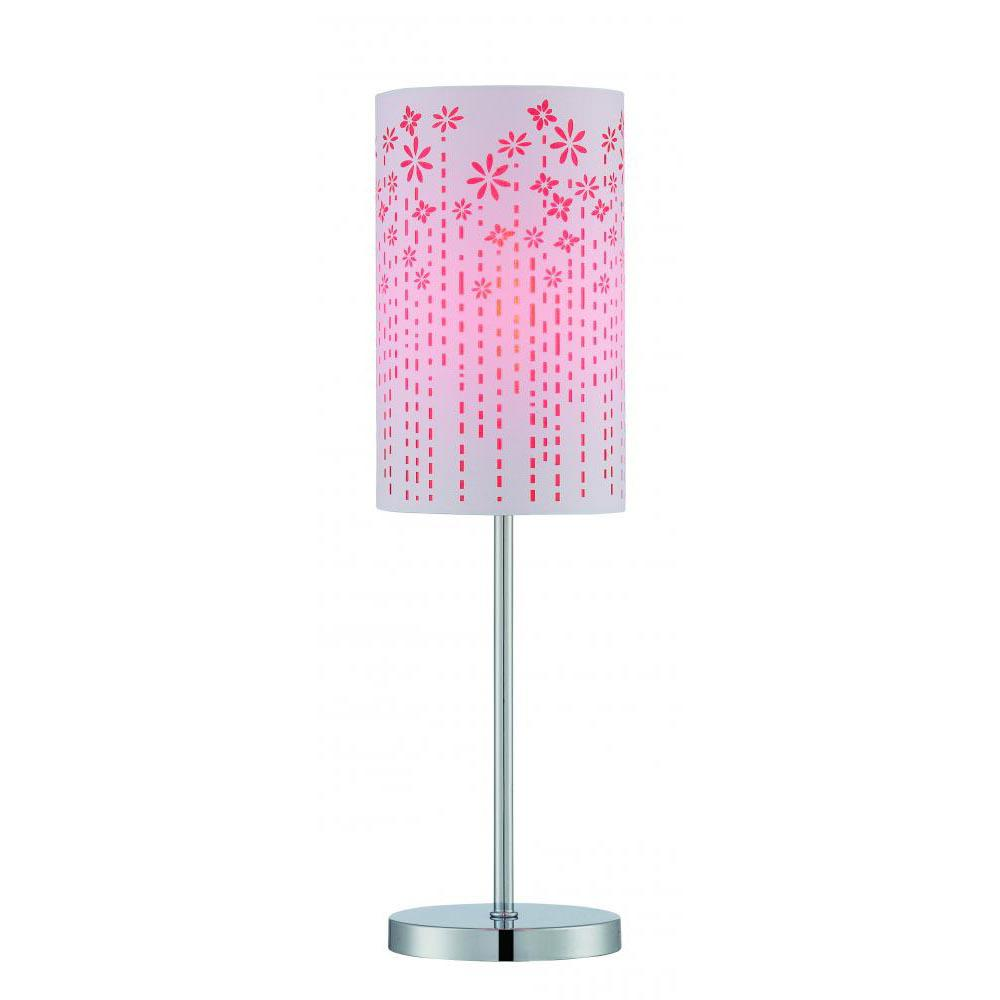 20.5 in. Polished Chrome Table Lamp