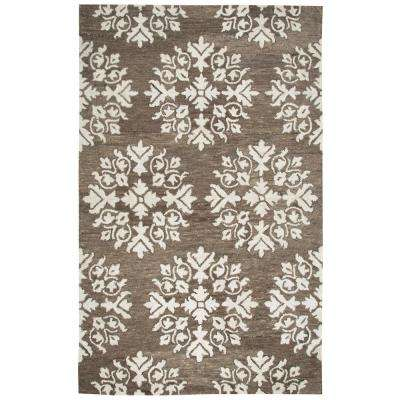 Leone Brown Medallion 9 ft. x 12 ft. Area Rug