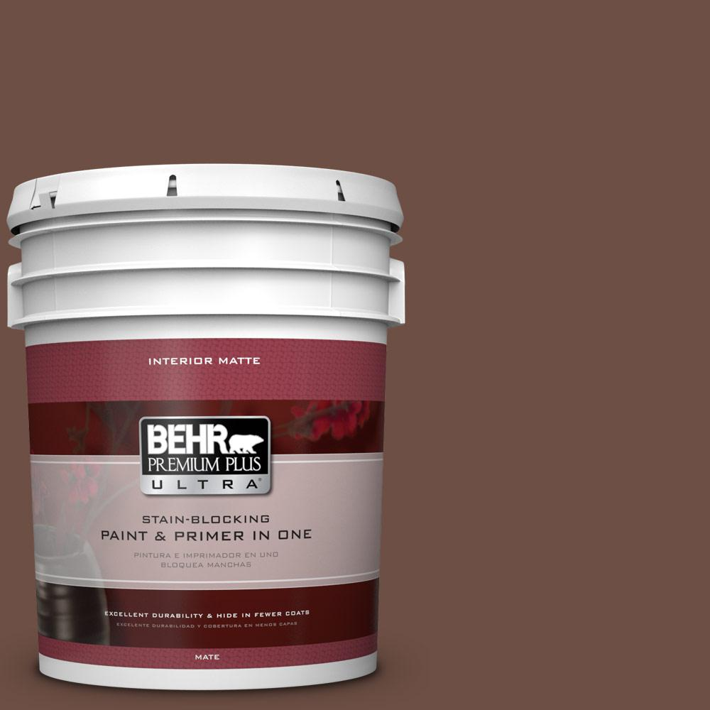 5 gal. #PMD-108 Double Chocolate Flat/Matte Interior Paint