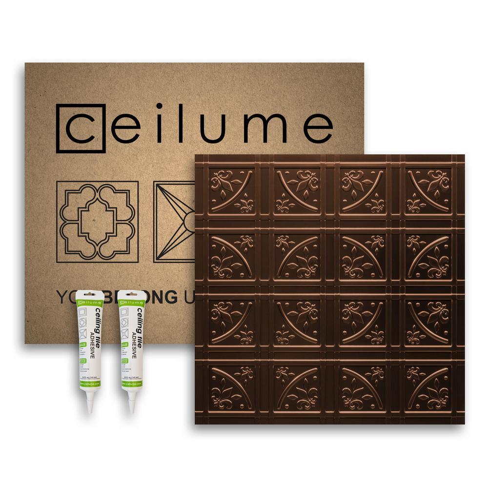 - Ceilume Lafayette 2 Ft. X 2 Ft. Glue Up Vinyl Ceiling Tile And