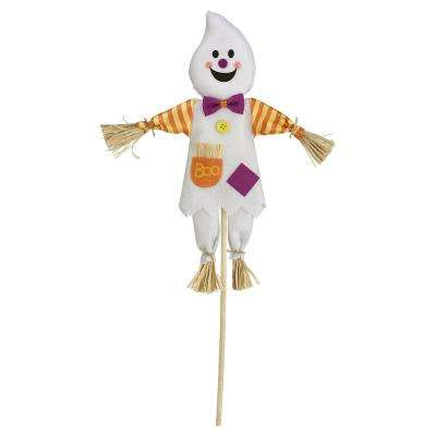 24 in. Halloween Ghost Value Yard Stake (1-Count 4-Pack)