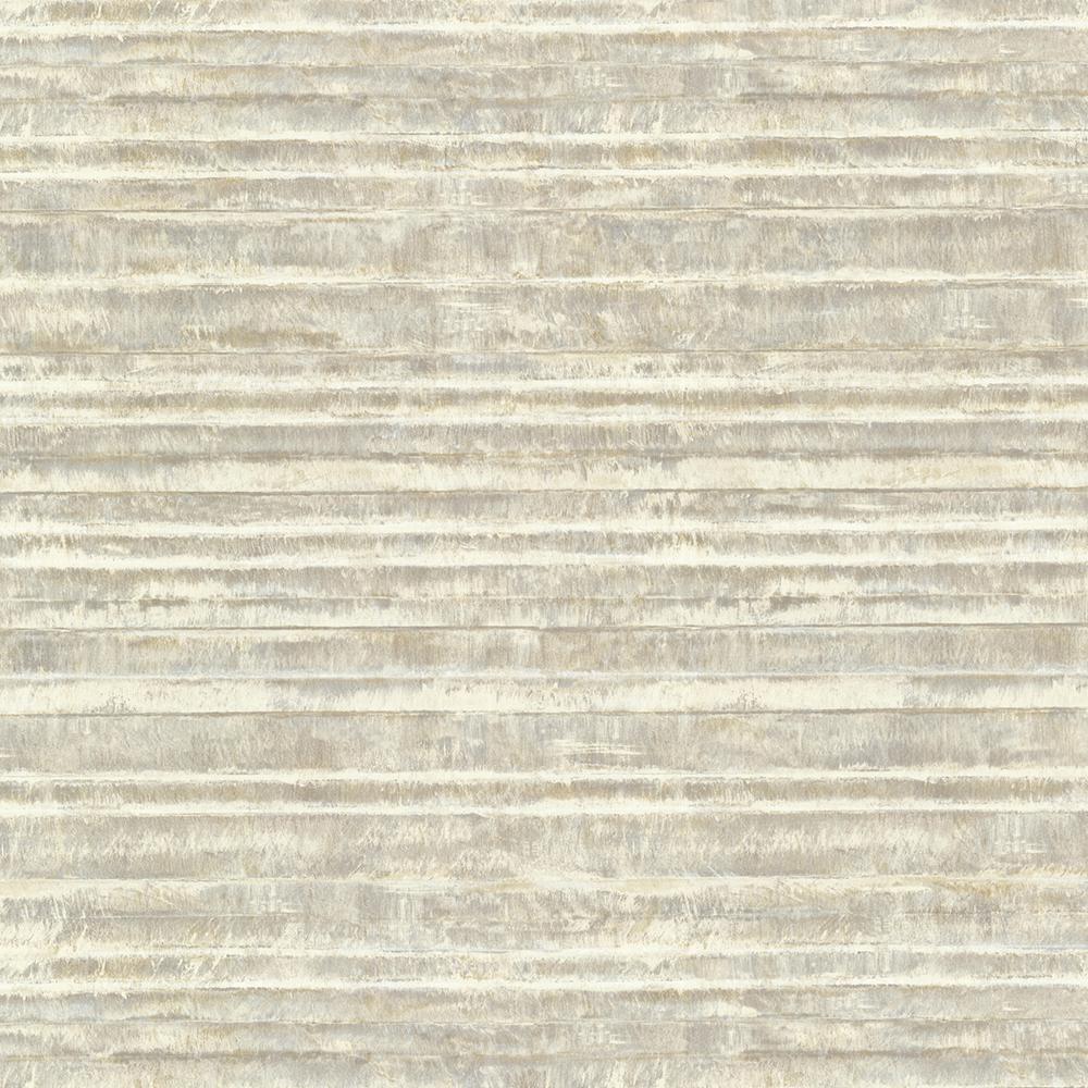 Brewster Grey Horizon Stripe Texture Wallpaper HZN43017