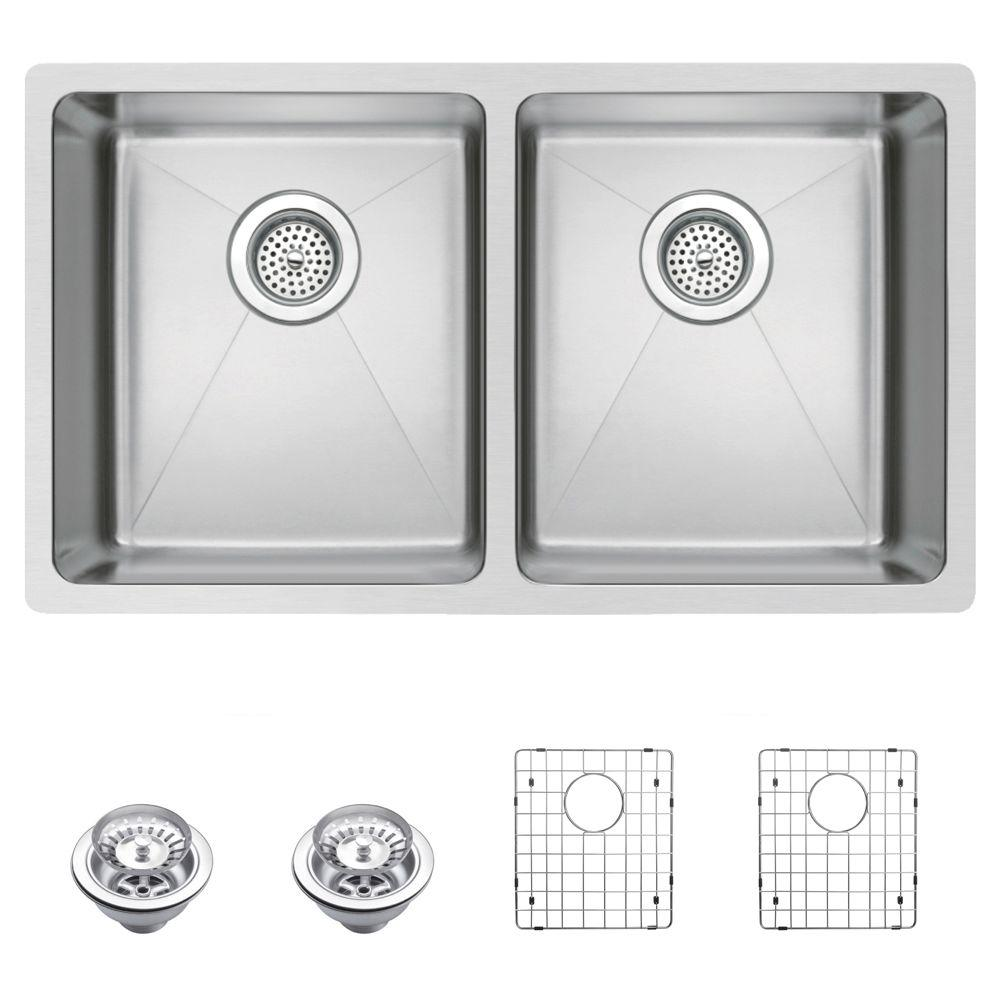 Small Sinks Kitchen Water creation undermount small radius stainless steel 31 in 0 hole water creation undermount small radius stainless steel 31 in 0 hole double bowl kitchen workwithnaturefo