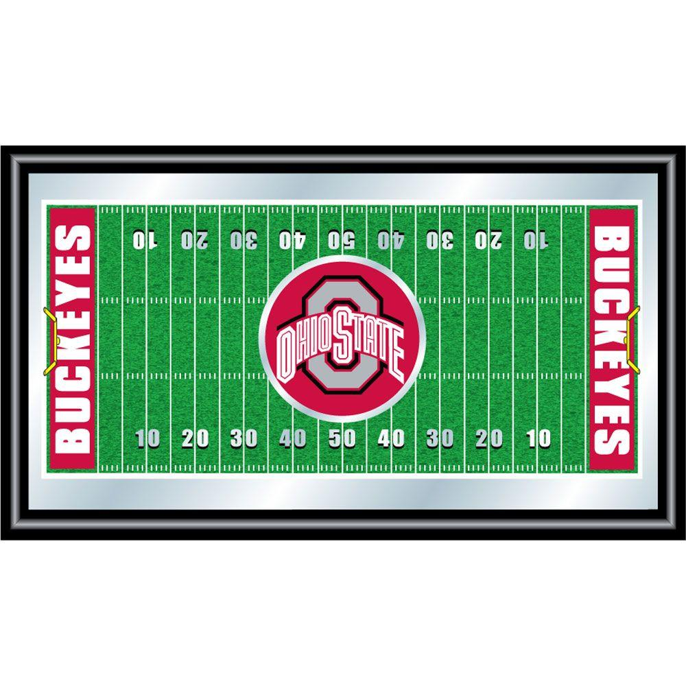 Ohio State Football 15 in. x 26 in. Black Wood Framed
