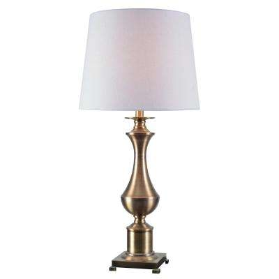 Isaac 31 in. Antique Brass Table Lamp
