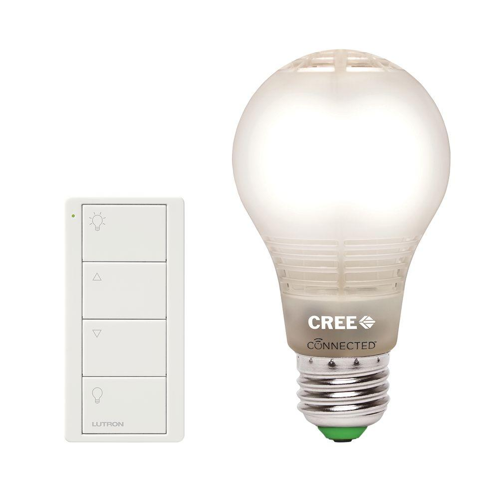 Lutron Connected Bulb Remote + Cree Connected 60W A19 LED Light Bulb
