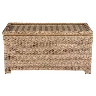 Laguna Point Natural Tan Wicker Outdoor Patio Storage Coffee Table
