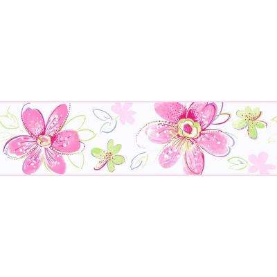 Candice Olson Kids Bohemian Floral Wallpaper Border