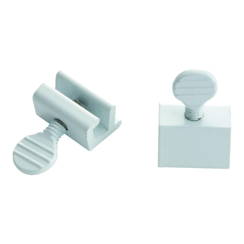White Window Slide Stop 2 Pack