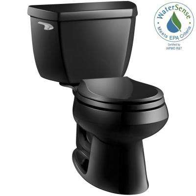 Wellworth Classic 2-piece 1.28 GPF Single Flush Round Front Toilet with Class Five Flushing Technology in Black