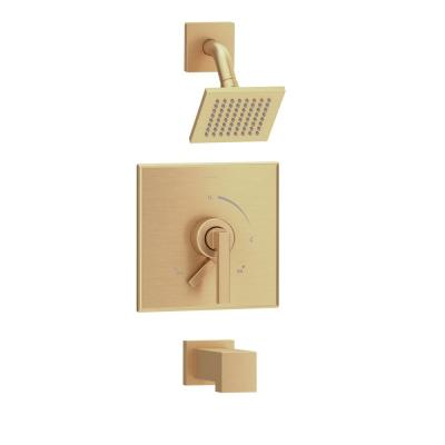 Duro 1-Handle Wall-Mounted Tub and Shower Trim Kit in Brushed Bronze (Valve not Included)