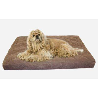 Small Protector Pad Quilted Orthopedic Jamison Pet Bed - Chocolate
