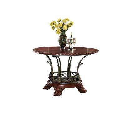 Omari Cherry Built-In Storage Dining Table
