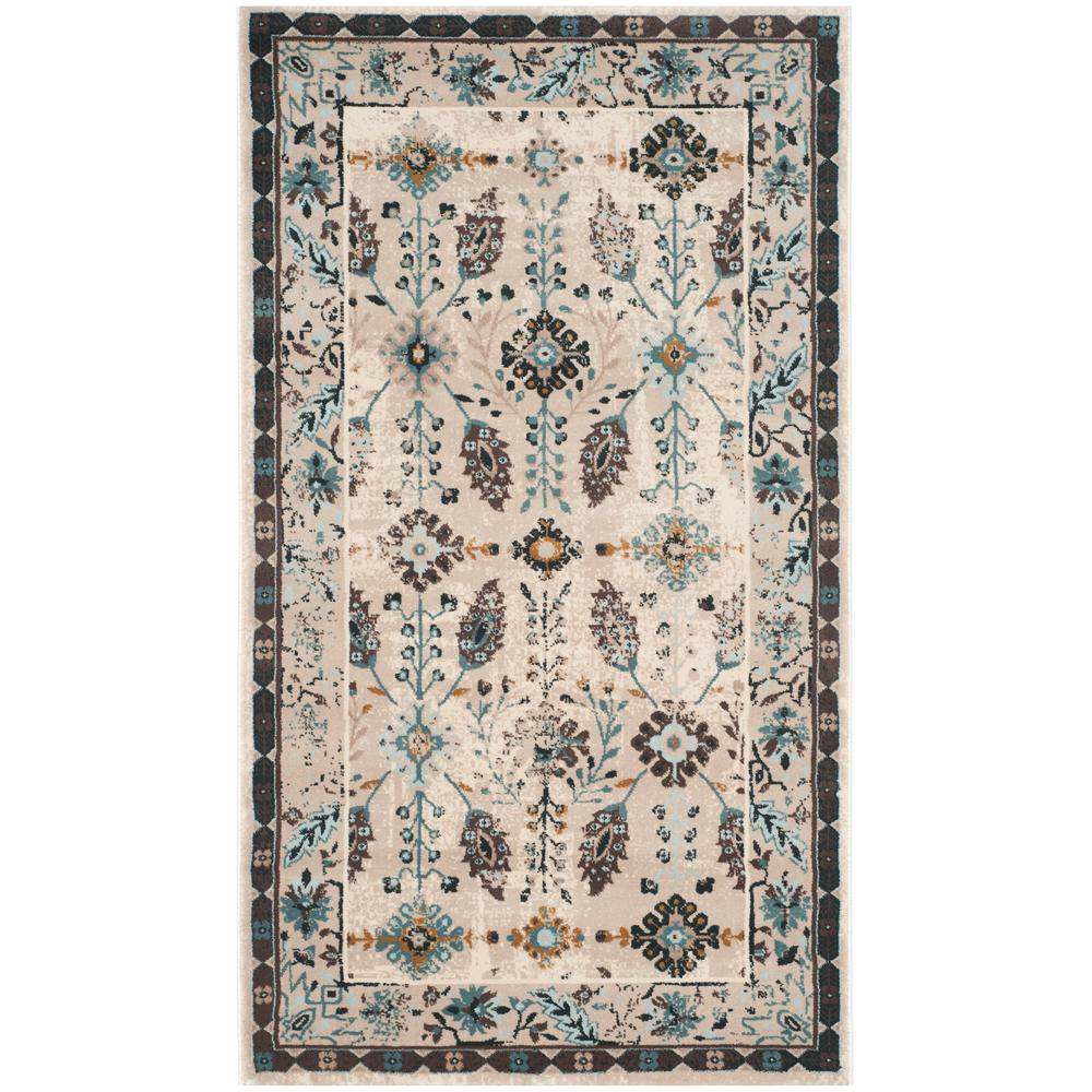 Safavieh Serenity Cream/Turquoise 2 Ft. 3 In. X 3 Ft. 9 In