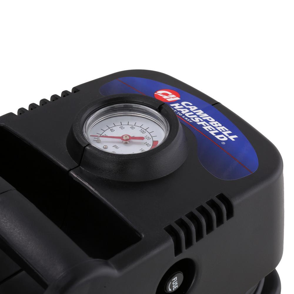 Campbell Hausfeld  120 psi Tire Inflator Gauge//Hose