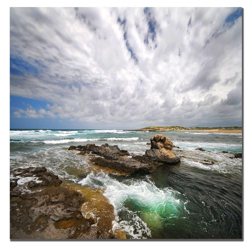 Trademark Fine Art 14 in. x 14 in. The Green Hole Canvas Art-DISCONTINUED