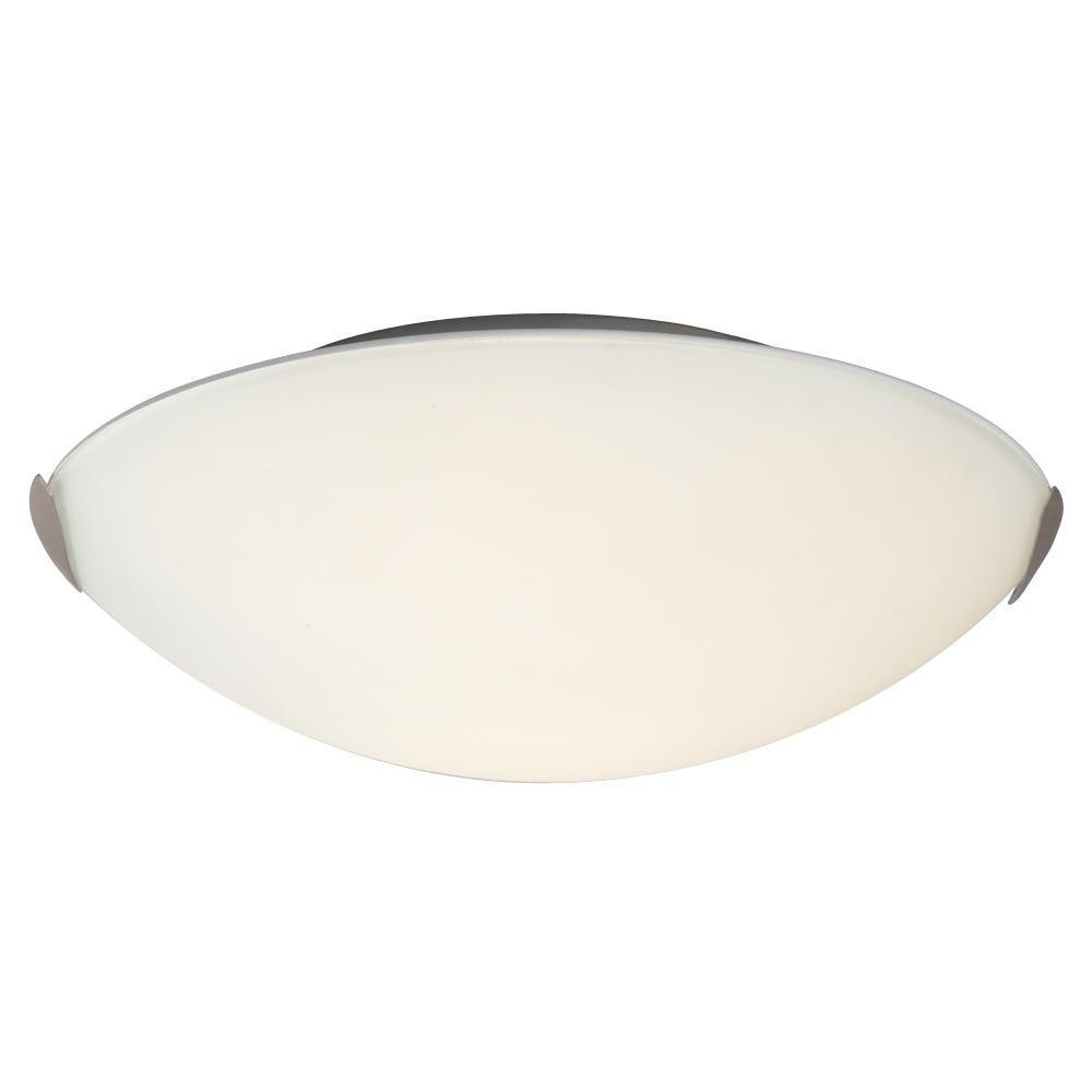 Negron 2-Light Brushed Nickel Incandescent Flush Mount