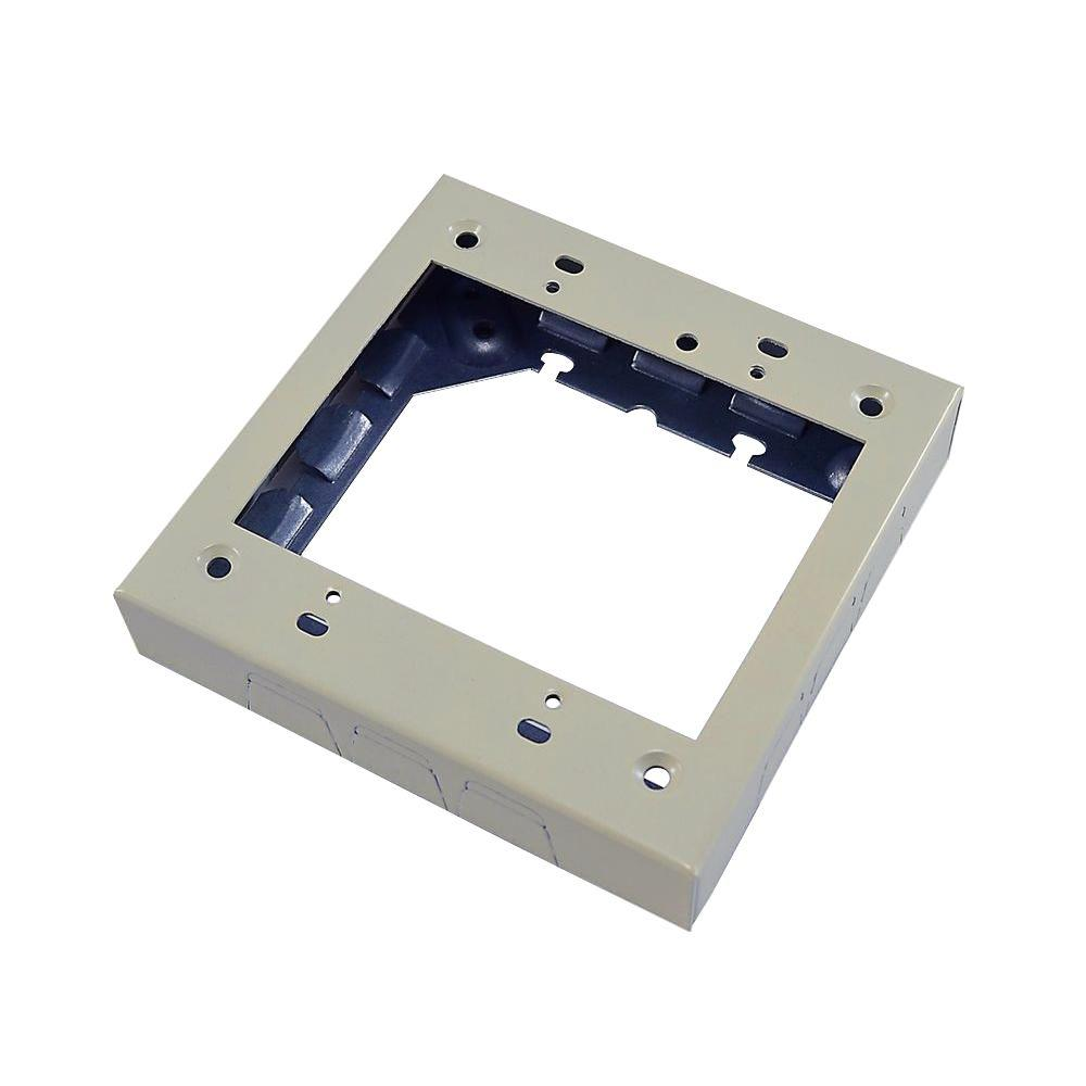 2 Gang Extension Adapter Box - Ivory