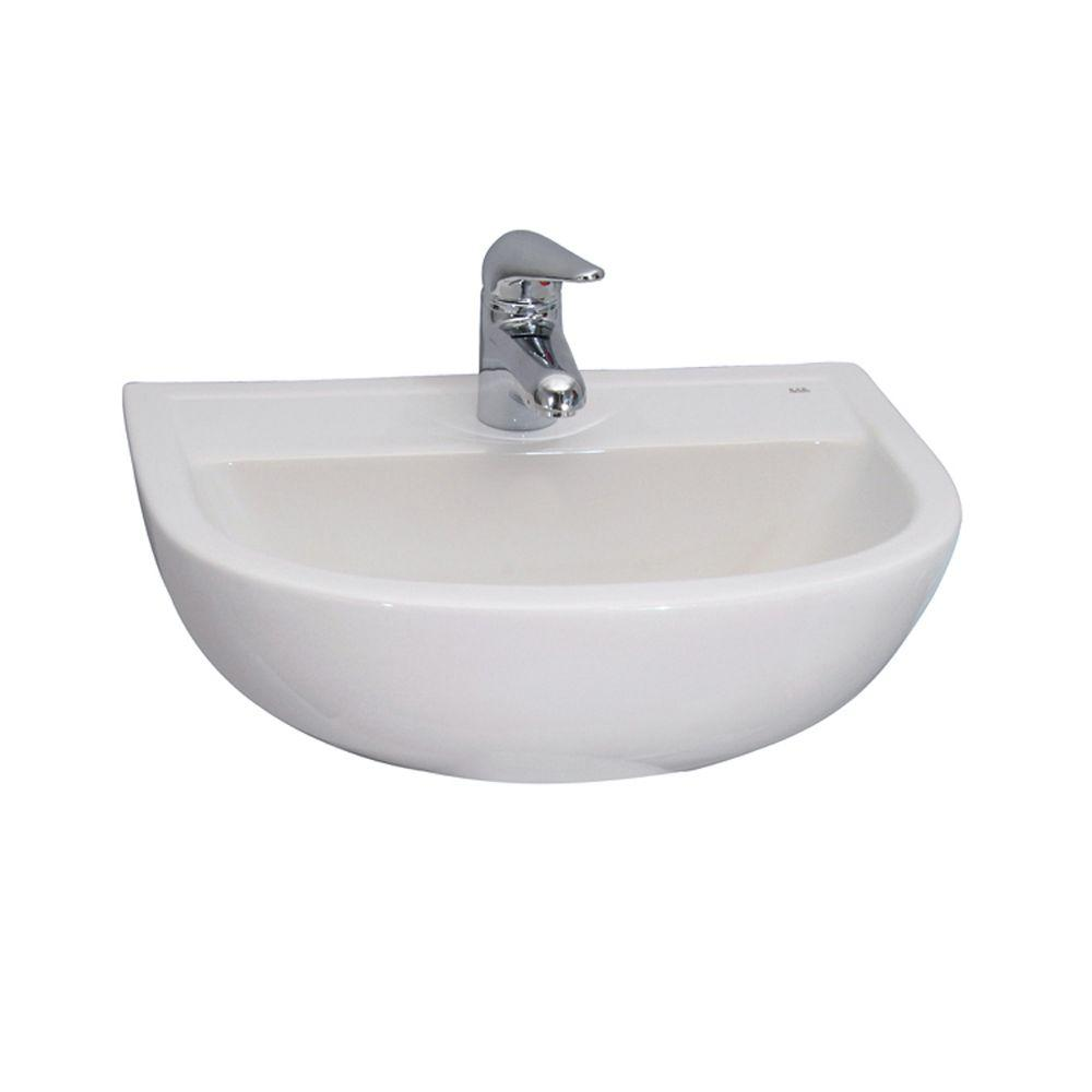 Compact 500 Wall-Hung Bathroom Sink in White