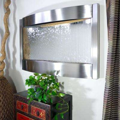 Contempo Luna Stainless Steel Silver Mirror Horizontal Fountain