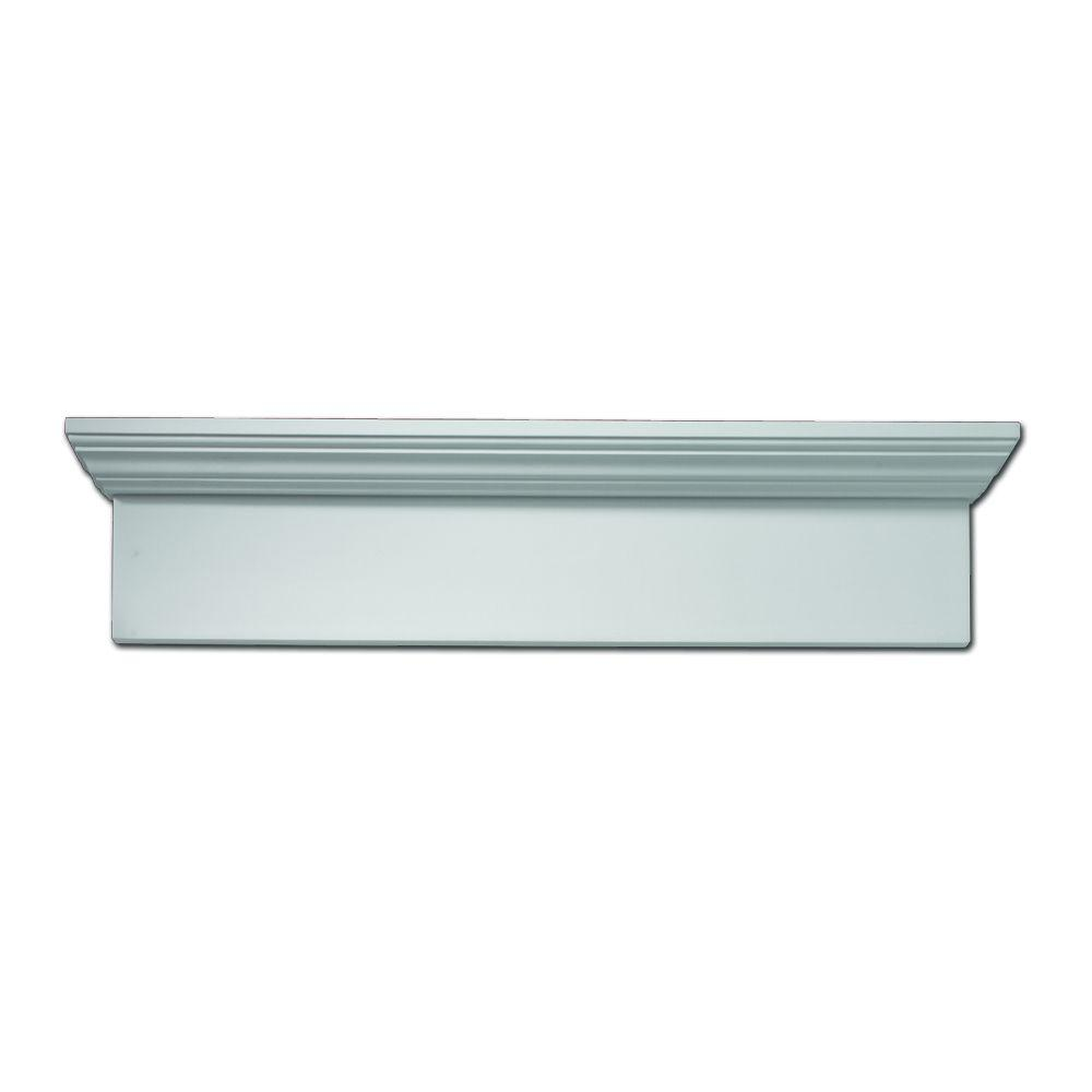 Fypon 24 in. x 9 in. x 4-1/2 in. Polyurethane Window and Door Crosshead