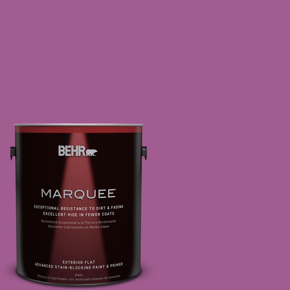 BEHR MARQUEE 1-gal. #P110-6 Wild Berry Flat Exterior Paint