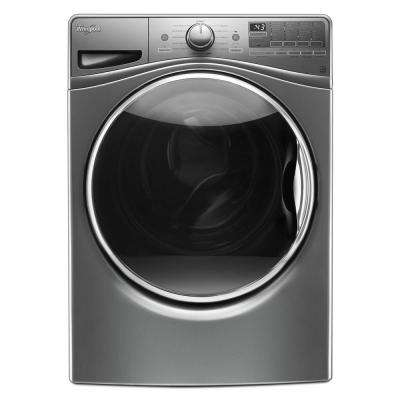 4.5 cu. ft. Front Load Washer with Load & Go in Chrome Shadow, 12 Cycles