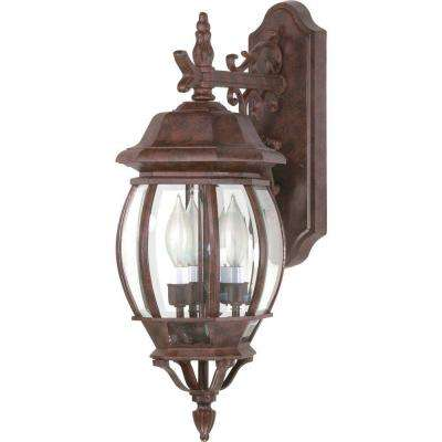Concord 3-Light Outdoor Old Bronze Wall Lantern