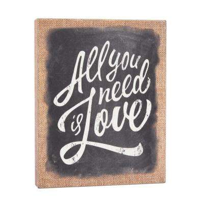 8 in. x 10 in. Wooden Wall Art