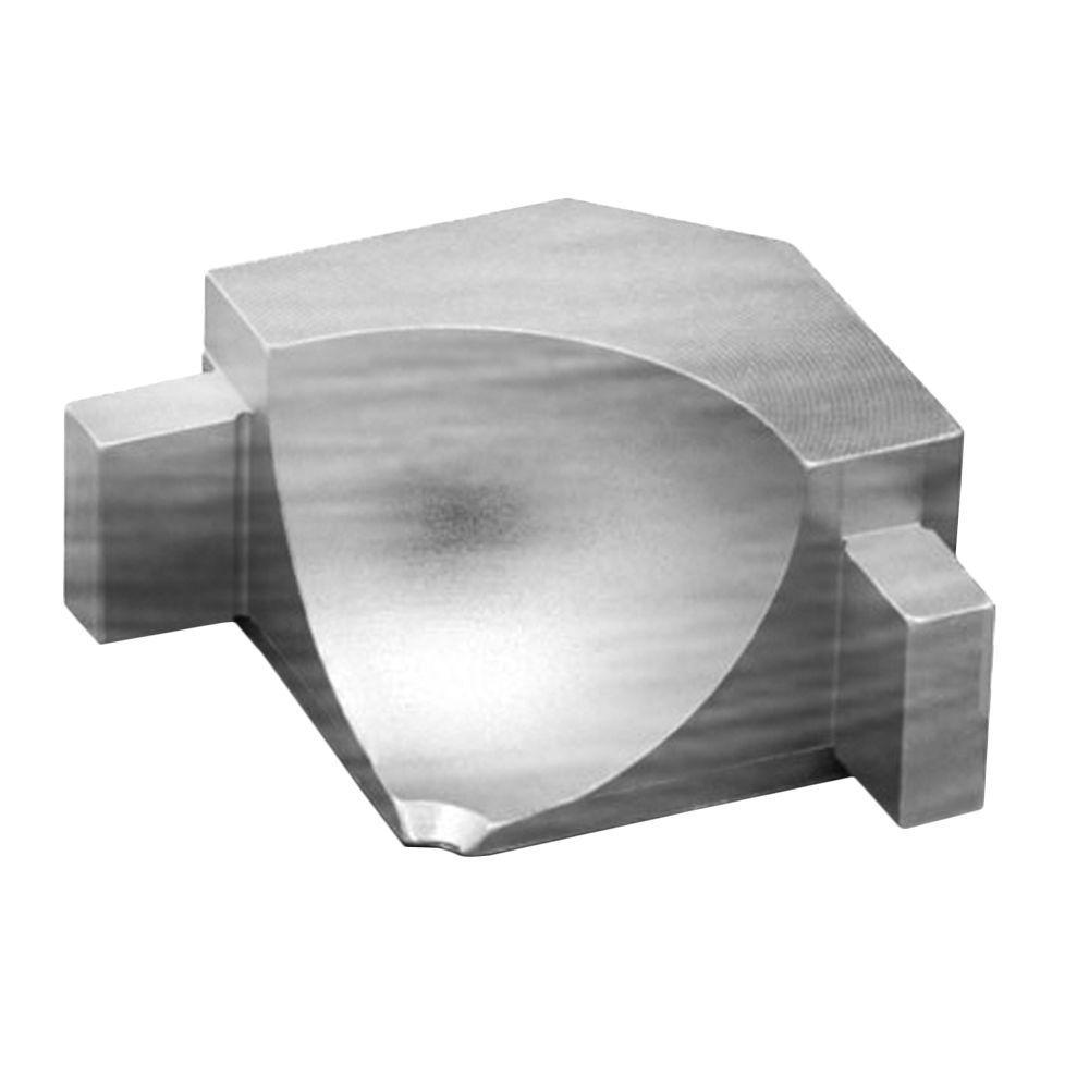 Dilex-AHKA Brushed Chrome Anodized Aluminum 9/16 in. x 1 in. Metal 90 Degree Inside Corner