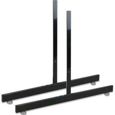 19 in. H x 24 in. W T-Shape Grid Wall Panel Legs Display with Levelers- Box of 3 Pairs (6 Legs)