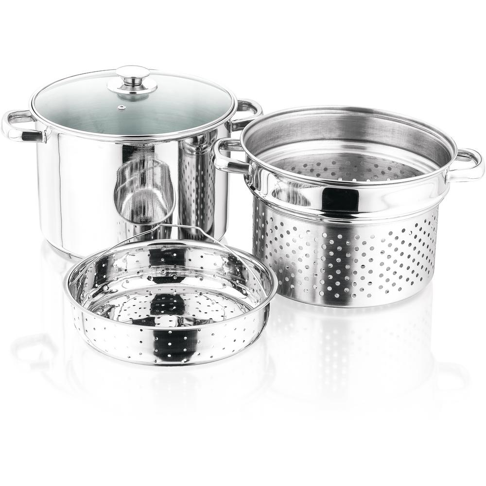 4-Piece Stainless Steel 8 Qt. Stockpot Set