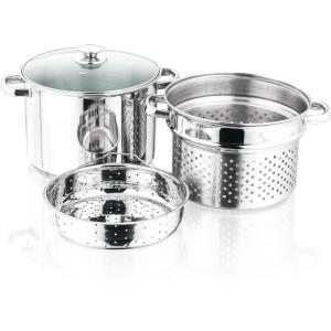 Deals on 4-Piece Stainless Steel 8 Qt. Stockpot Set