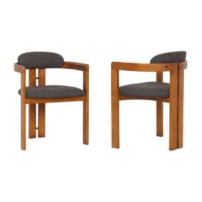 Jazmin Charcoal Fabric Dining Chair (Set of 2)