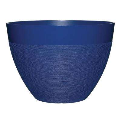 Decatur 22 in. Sapphire Blue Resin Planter