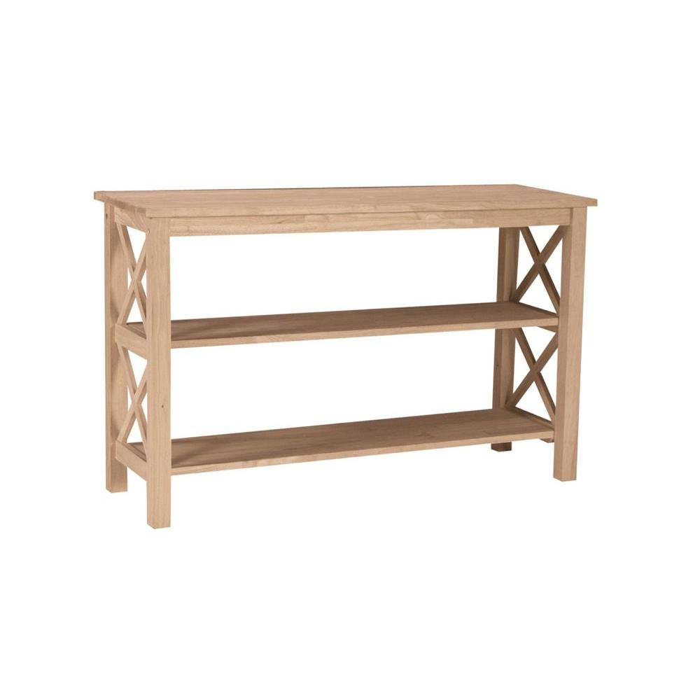 Delicieux International Concepts Hampton Unfinished Console Table