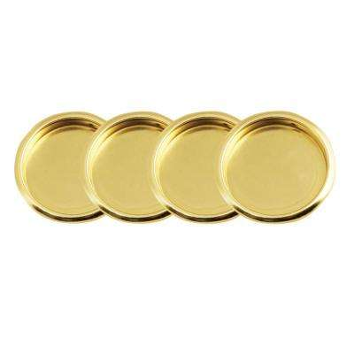 2-1/8 in. Polished Brass Closet Door Finger Pull (4 per Pack)