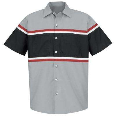 Men's Size 4XL Grey/Black with Red/White Technician Shirt