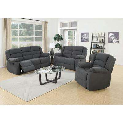 3-Piece Blue Gray Living Room Suite