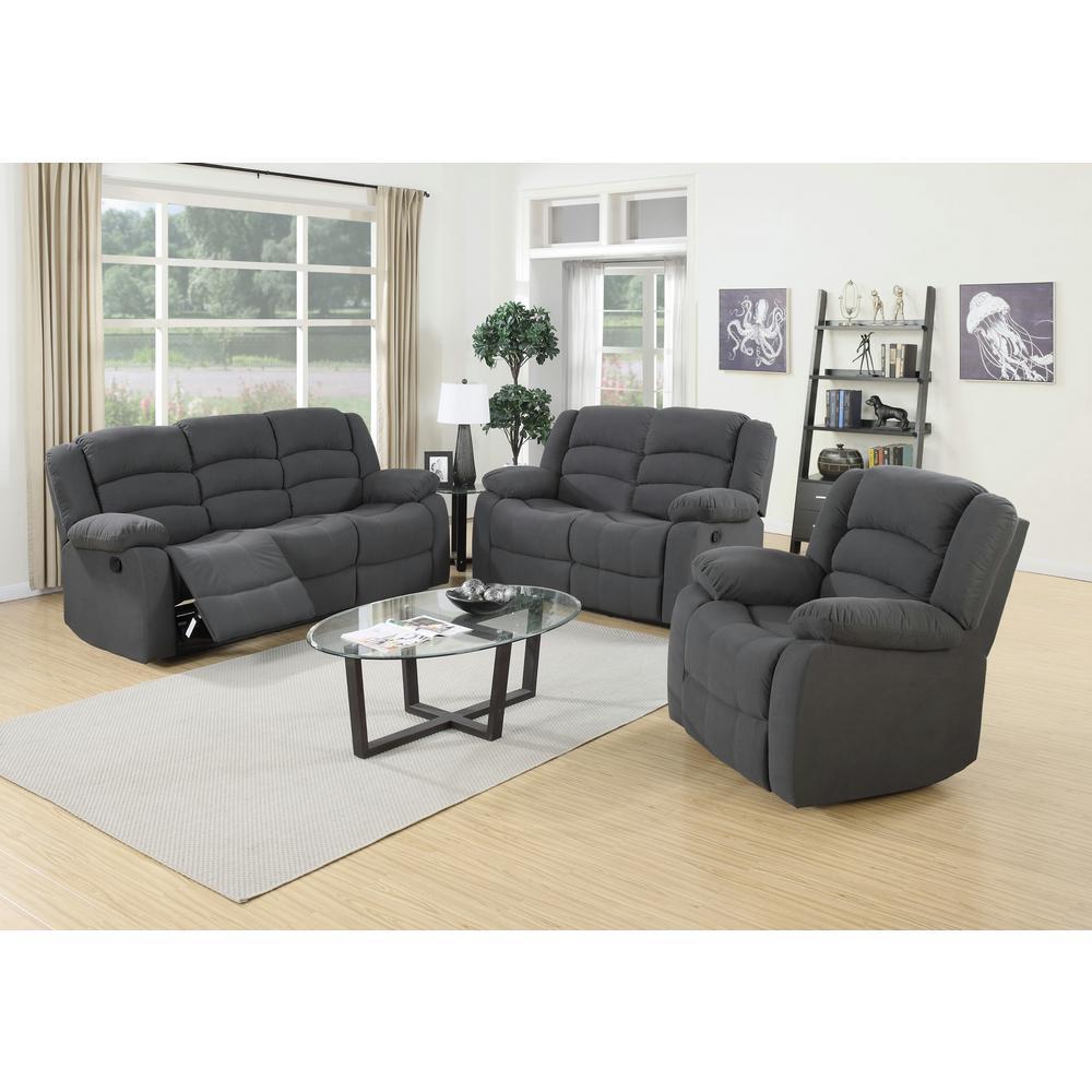 Drummond 3 Piece Living Room Set In: 3-Piece Blue Gray Living Room Suite-S6022