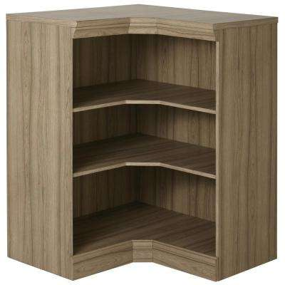 Manhattan Modular 3-Shelf Storage Corner Cabinet in Natural