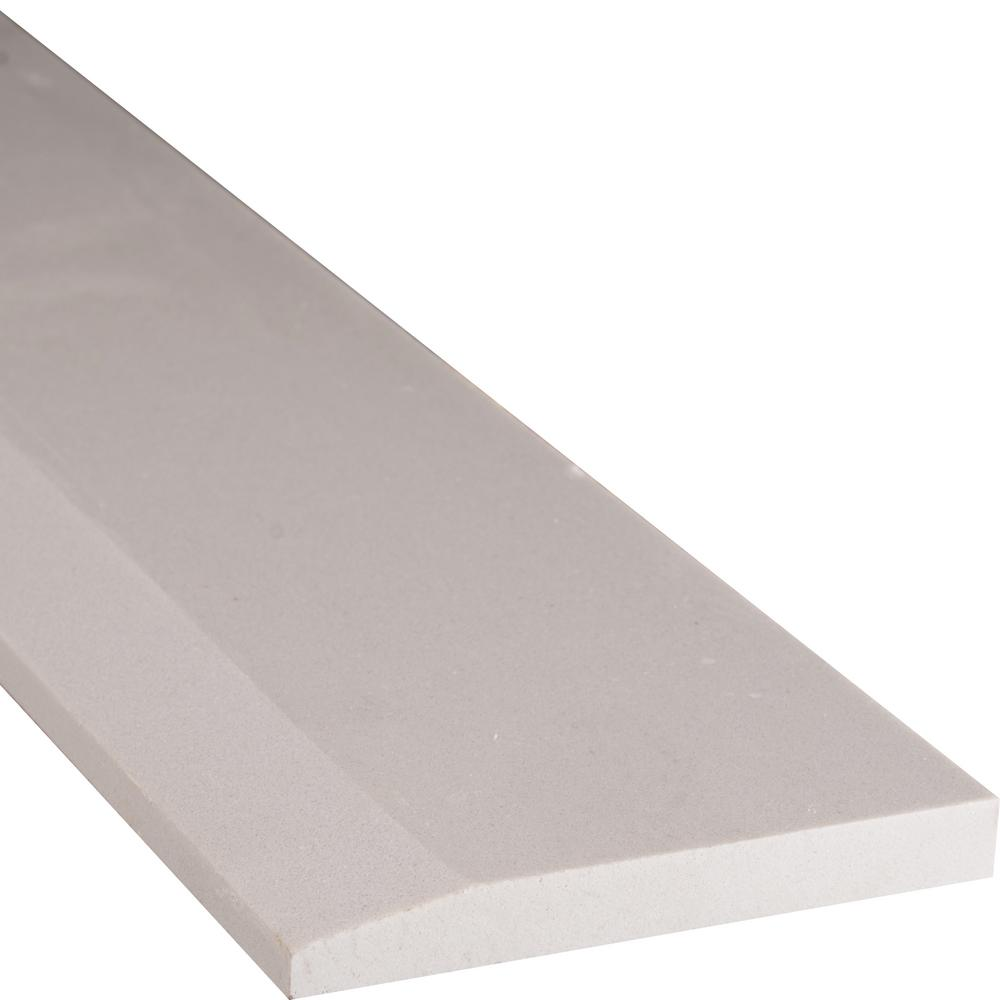 MSI White Hollywood Style 5 in. x 30 in. Engineered Marble Threshold Floor and Wall Tile