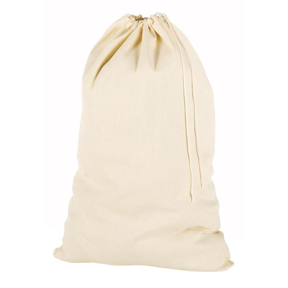 Natural Cotton Beige Laundry Bag