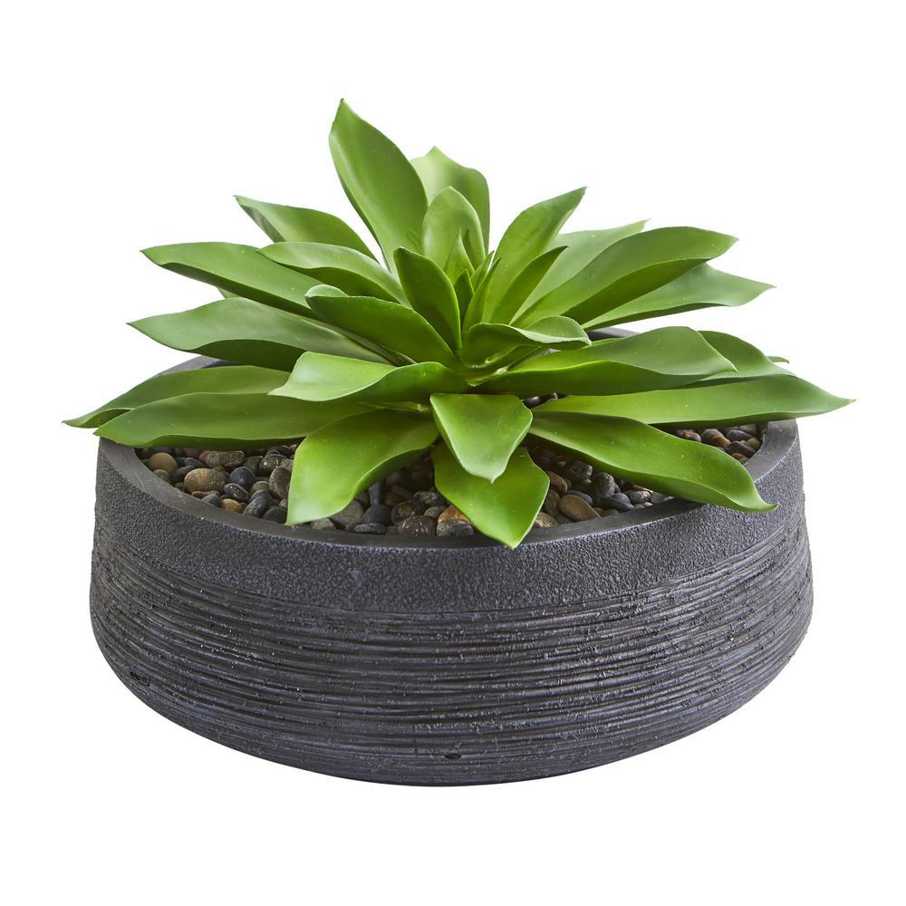 Indoor Large Succulent Artificial Plant in Decorative Bowl