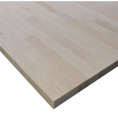 Allwood 1 in. x 18 in. x 24 in. Edge Glued Birch Table Top Project Panel