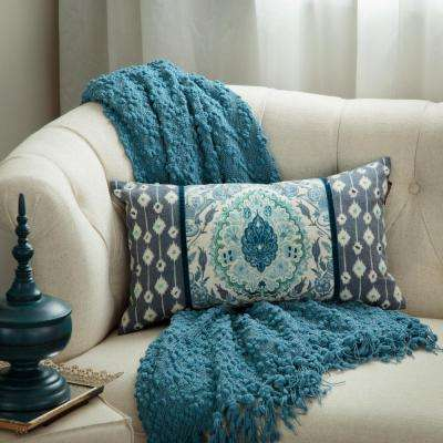 Tivoli Damask Lumbar Toss Pillow