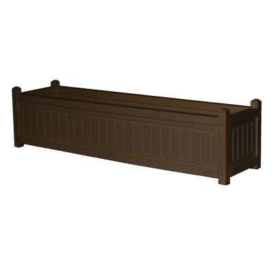 Nantucket 48 in. x 12 in. Brown Recycled Plastic Commercial Grade Planter Box