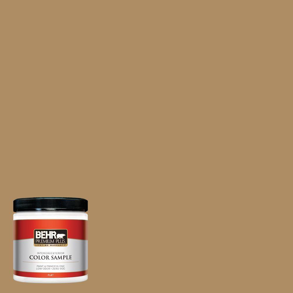 8 oz. #300F-5 Brown Rabbit Flat Zero VOC Interior/Exterior Paint and