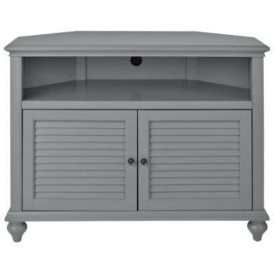 H Grey Highboy Corner TV Stand